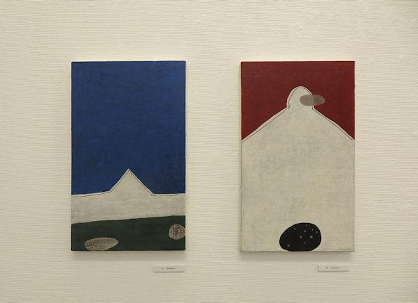 (左)「Landscape 2」(右)「Landscape 3」41×24.2cm