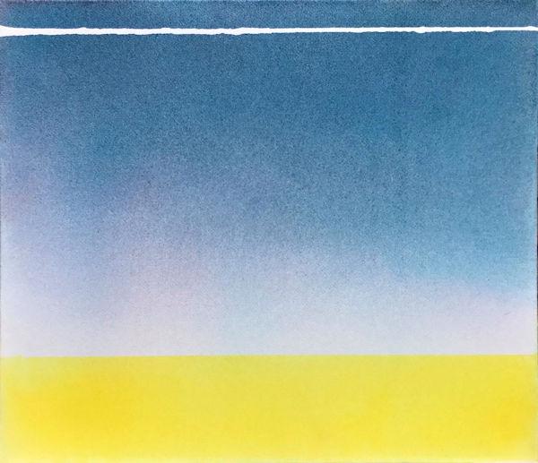 「風の質量」 紙、顔料、アクリル樹脂 F10 2017