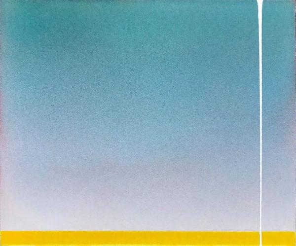 「明日に向かう」紙、顔料、アクリル樹脂 F8 2017