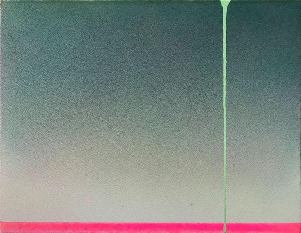 「明日へ」紙、顔料、アクリル樹脂 F6 2017