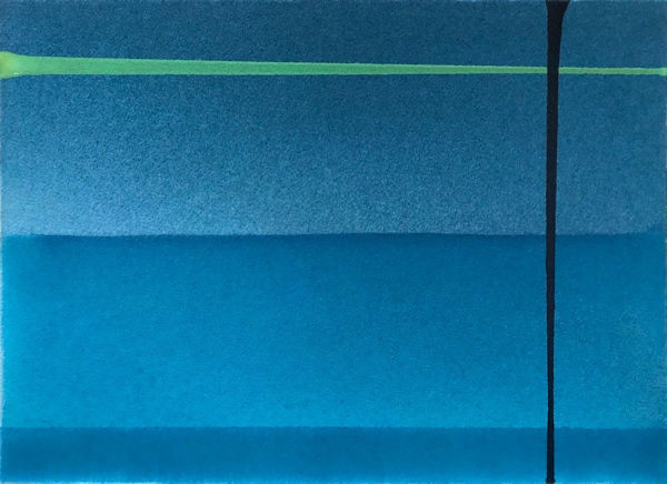 「水の中」紙、顔料、アクリル樹脂 F4 2017