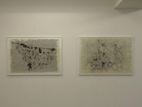 「恍惚の文字」 越前和紙、墨 98×65cm 2017