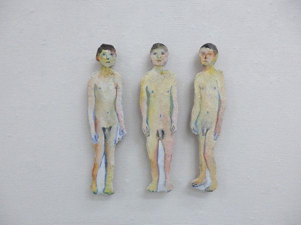 「Piece」ブオンフレスコ(漆喰、砂、顔料、金網、木) 2017