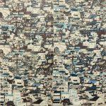 「様々な町B」シルクスクリーン 440×440×35mm 2017