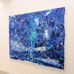 「青にたゆたう繰り返し現れる明日の景色」キャンバスに油彩 130×162cm 2019