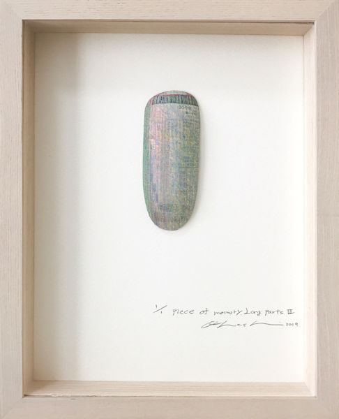 「piece of memory.Long parts.Ⅲ」エッチング、雁皮紙、デジタルプリント 270×220×40mm 2019