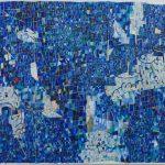 「きらめく青に漂うワクワク」キャンバスに油彩 50×60cm 2019