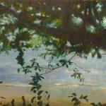 「景色の中に潜むもの(2016年3月13日)」キャンバス、油彩 P20 2021